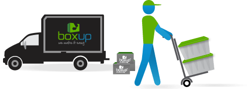 BoxUp deliver plastic boxes and moving supplies to your location