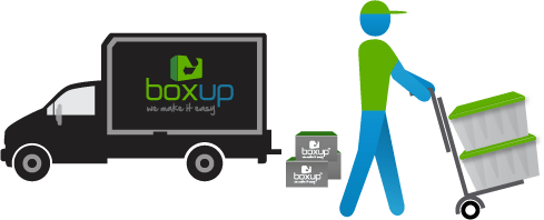 BoxUp deliver all rented supplies to your location
